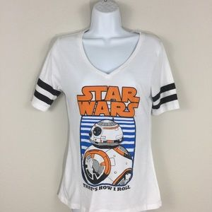 3/$10 Star Wars BB8 Short Sleeve Tee   Medium